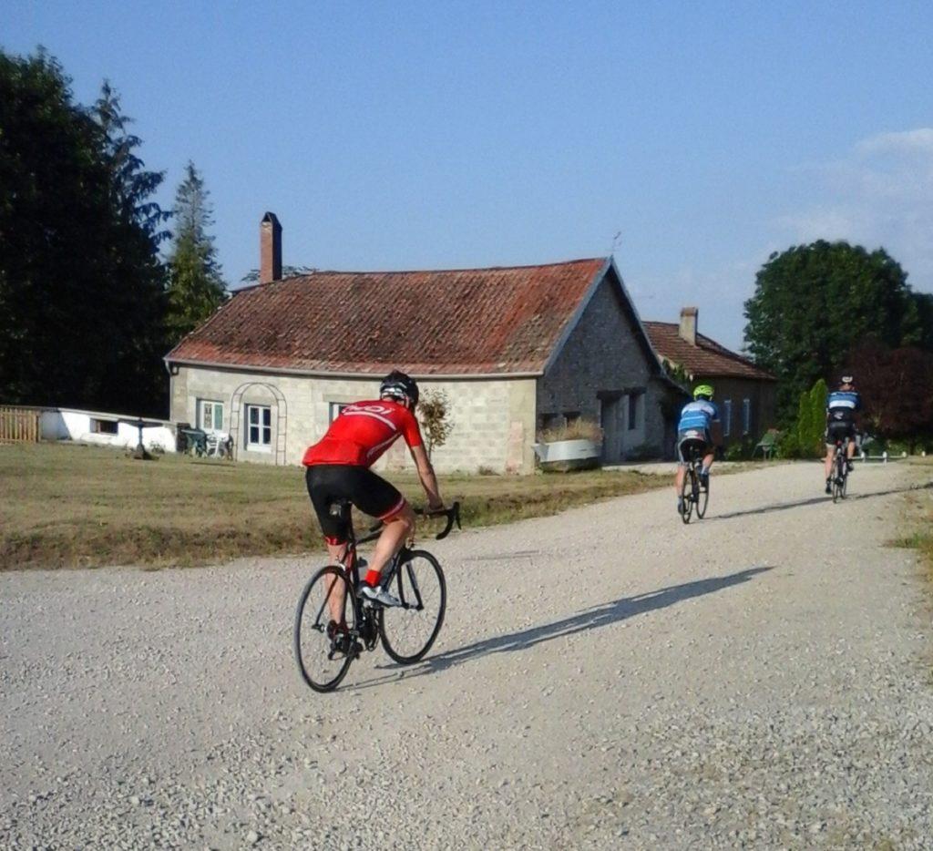 cyclistes sur le départ