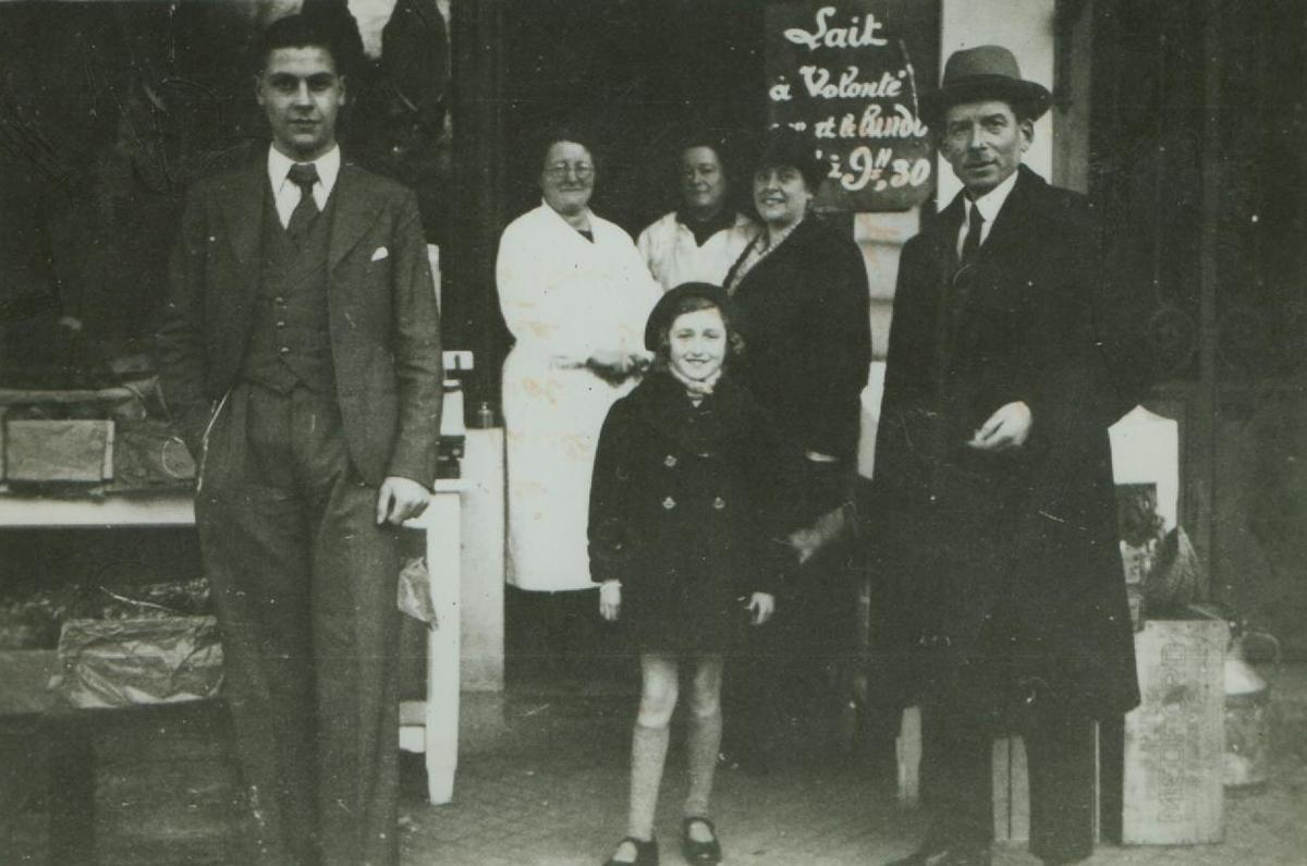 Paris Boutique crémier avant guerre