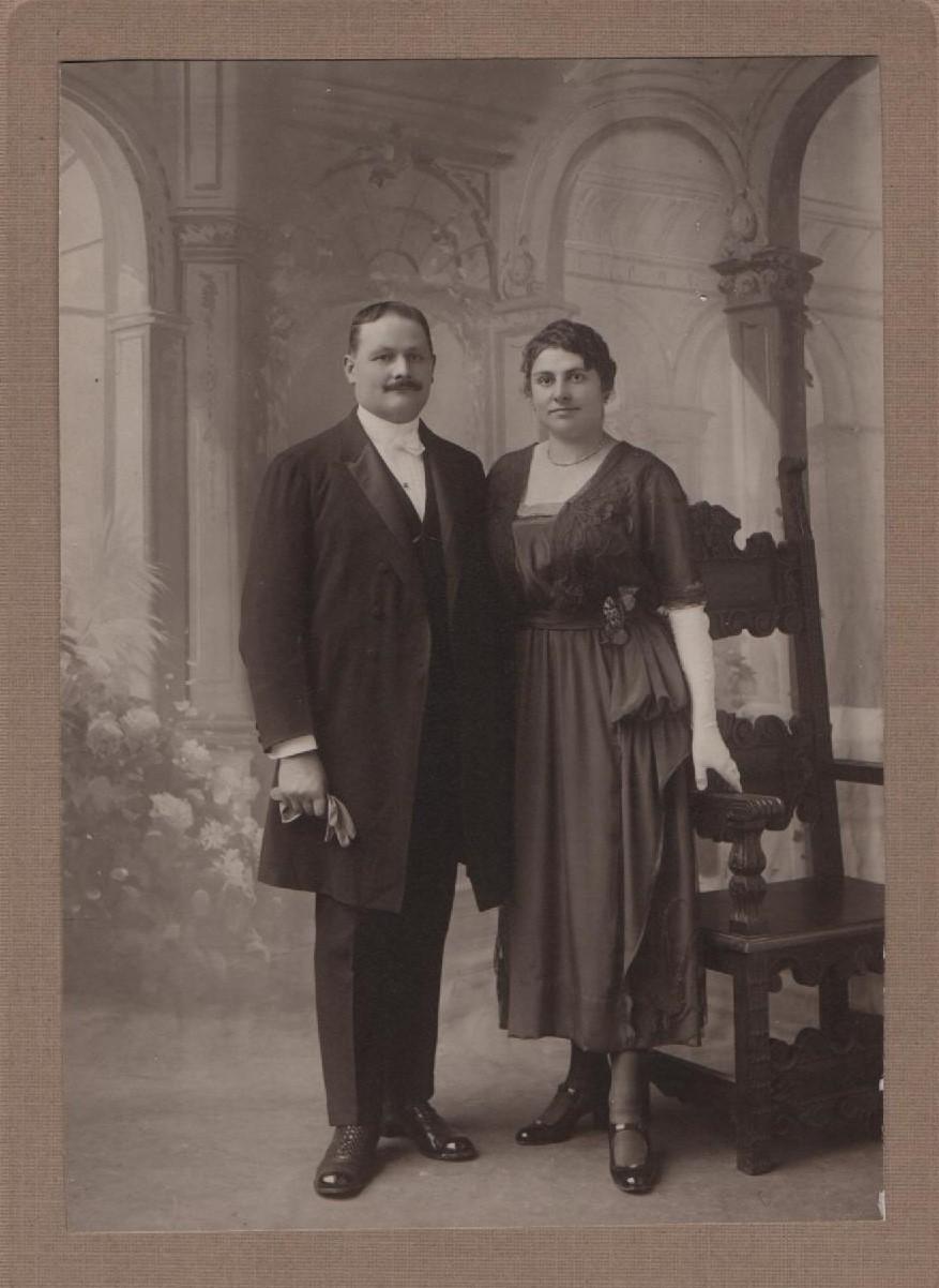 photo mariage Eugène et Germaine Thorelle