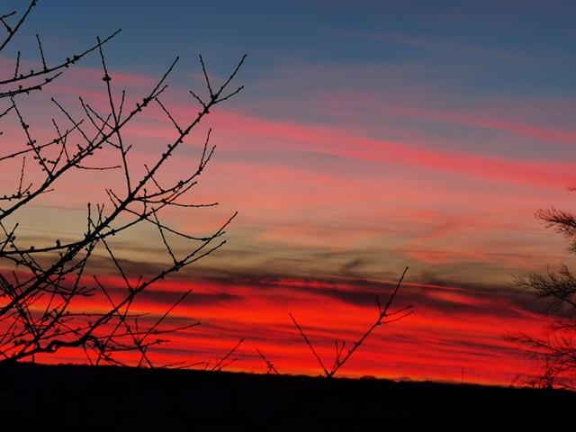 début coucher de soleil
