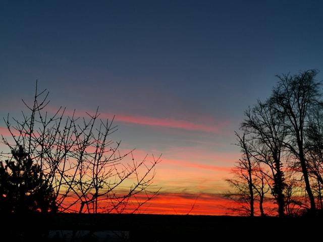 tout début coucher de soleil