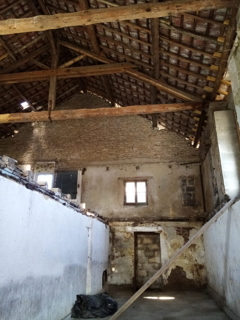 Mise à nue des 3 niveaux avec la démolition de la dalle